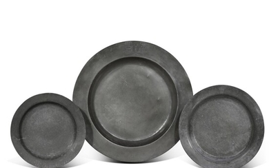 A Charles II broad rimmed 22-inch pewter charger, circa 1660-70