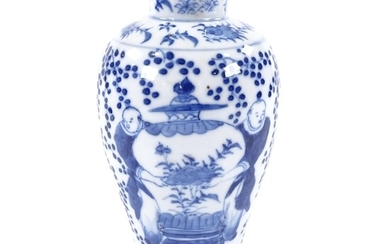 A Chinese blue and white porcelain vase, with painted figure...