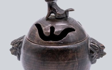 A Small Bronze Censer, Qing Dynasty.