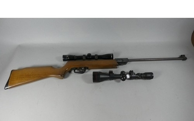 A Spanish .22 Calibre Air Rifle with Two Sets of Telescopic ...