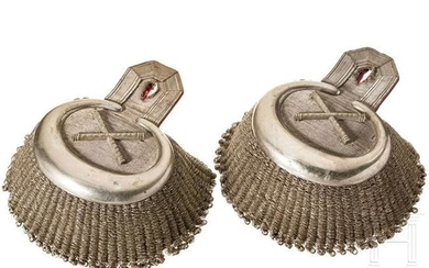 A pair of epaulettes belonging to King George of Saxony