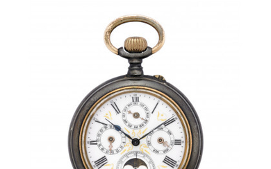 ANONYMOUS Gent's pocket watch Early 20th century Manual wind movement...