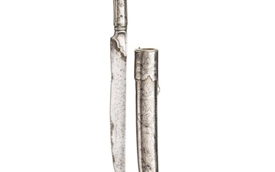 An Ottoman/Caucasian silver-mounted and nielloed dagger, 19th century