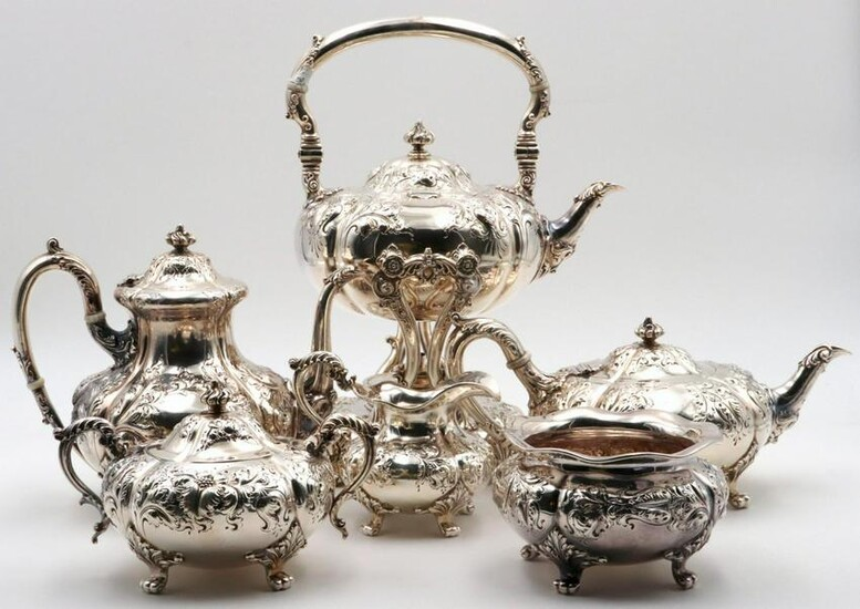 Antique Theodore B. Starr Sterling Silver Tea Set