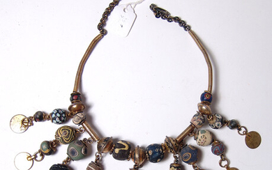 Antique necklace comprised of Islamic glass beads