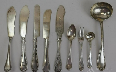 Assorted Sterling Silver and 950 Flatware