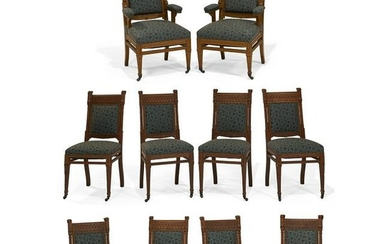 Attrib to Herter Brothers dining chairs set of 10