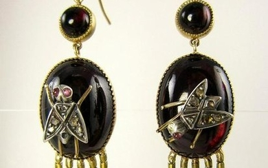 Authentic and Rare...English Victorian Fringed EARRINGS