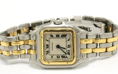 "Cartier ""Panthere"" 18Kt & Stainless Watch"