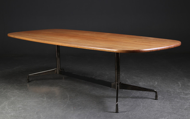 Charles Eames. Dining table, Model 'Segmented Table', walnut top