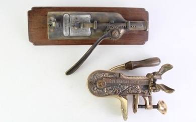 Chateau La Rose Mounted Wine Bottle Opener Together with Another