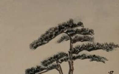 Chinese Painting of Pine Tree by Xu Shichang