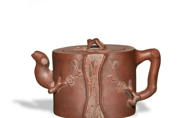 Chinese Zisha Teapot, Late-19th to Early-20th Century