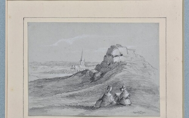 English School (mid 19th century), 12 views of Sark and Guer...