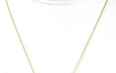 Estate 14k Yellow Gold Coin Mount Necklace