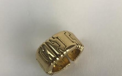 Estate 18kt Yellow Gold Articulated Ring by FRED