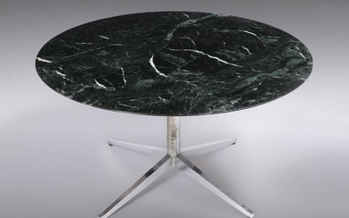 FLORENCE KNOLL MID-CENTURY MARBLE TOP DINING TABLE