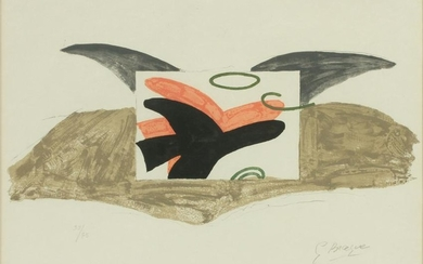 GEORGES BRAQUE COLOR LITHOGRAPH ON PAPER, 1963