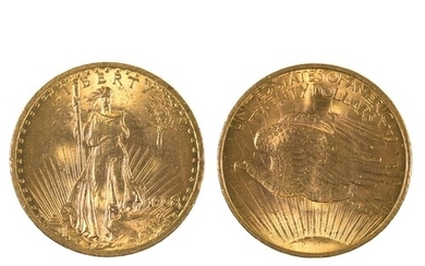 GOLD COIN. UNITED STATES OF AMERICA SAINT-GAUDENS DOUBLE EAG...