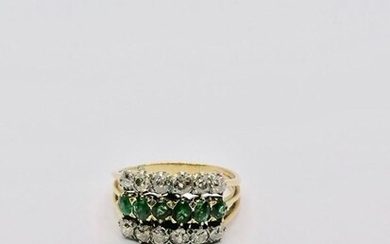 Gold and Emerald ring France circa 1930
