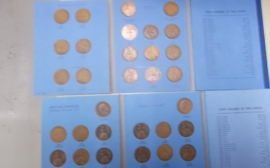 Great Britain Pennies x 2 sets 1902-1966 including a 1951 & ...