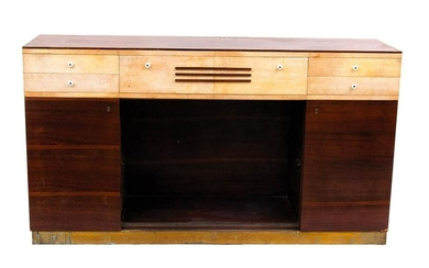 ITALIAN MANUFACTURE - Buffet in parchment and rosewood