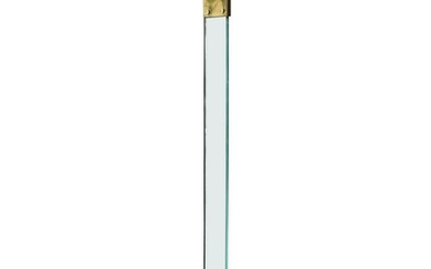 Italian Brass and Glass Midcentury Torchiere Floor Lamp