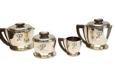 Jean Puiforcat Sterling Silver Coffee & Tea Set