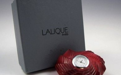 Lalique Crystal Heart Clock