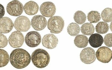 Lot of 27 Roman silver coins: 22 denarii and 5...