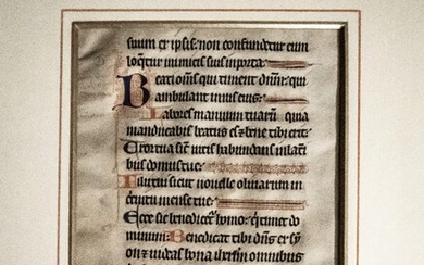 MSS Illuminated Leaf from C13th Psalter