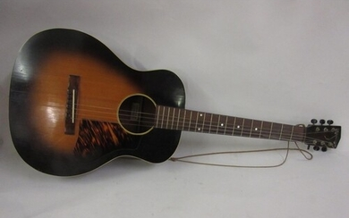 Mid 20th Century Kalamazoo acoustic guitar in a fitted case