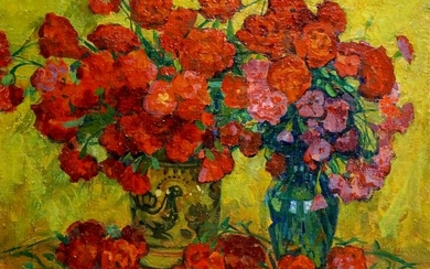 Oil painting Bouquet of roses Pokulity Konstantin
