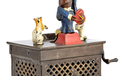 Organ Bank with Cat and Dog Cast Iron Mechanical Bank