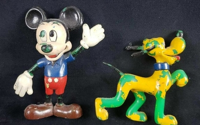 Pre 1986 Walt Disney Productions Mickey Mouse and Pluto