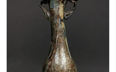 ROMAN GLASS VASE WITH HANDLES