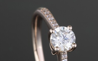 Ring with brilliant cut diamond 0.45ct