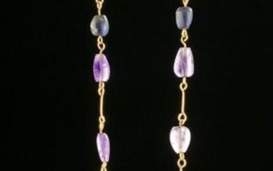 Roman / Byzantine 18K+ Gold / Amethyst Necklace