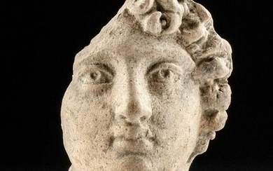 Roman Pottery Votive Head of Male - Aquileia