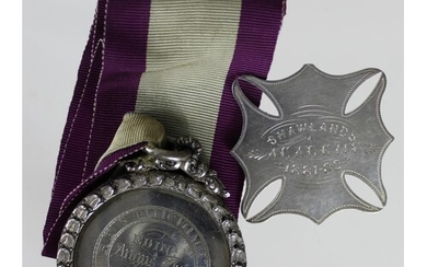 Scottish silver School items comprising a silver medal for t...