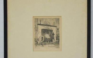 Signed Willie Lucille Reed Etching