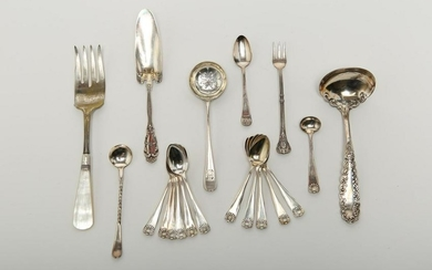 Silver & Silver-Plate Serving Utensils, 19/20th C.