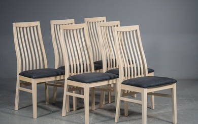 Dining chairs, model Camilla with upholstery in microfibre (10)