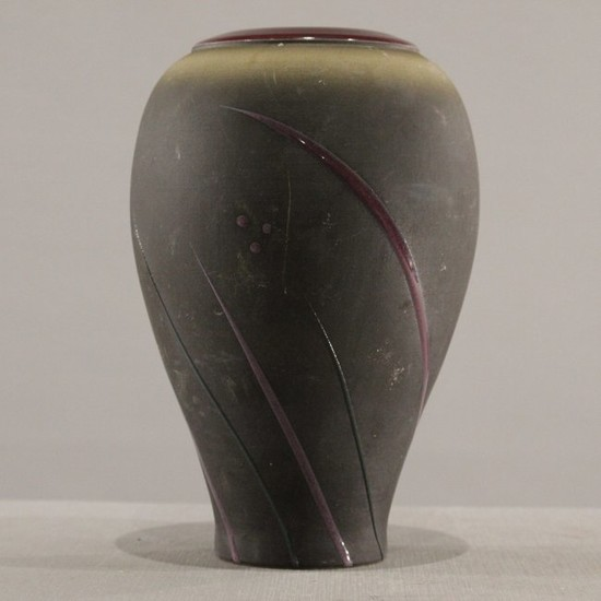 Studio Art Pottery Dark Glaze Vase