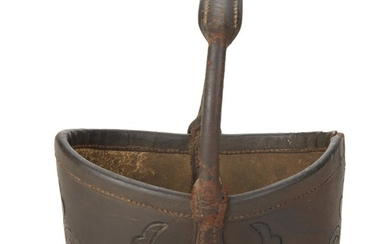 Tooled leather key basket Virginia, North or South Carolina,...