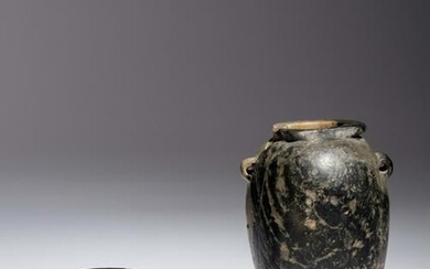 Two Egyptian Granite Vessels Height of taller example 3