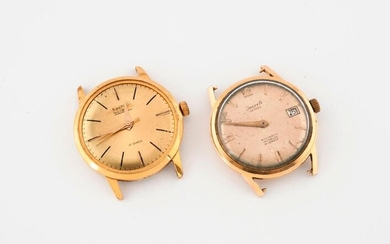Two round watch cases for men's wristwatch