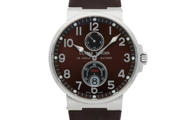 Ulysse Nardin, MAXI MARINE CHRONOMETER, REF 263-66 STAINLESS STEEL WRISTWATCH WITH DATE AND POWER-RESERVE INDICATION CIRCA 2015