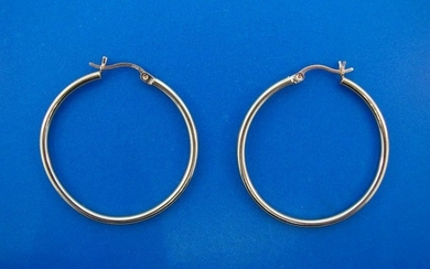 WOW E.K.M. 14k Yellow Gold Hoop Earrings