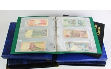 World (600+), collection in 7 x Banknote Albums, with some c...